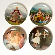Knowles Collectorand039s Plates Sound Of Music Plates 1-4 W/ Box And Certificate Coa