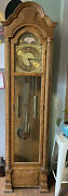 Colonial Of Zeeland Grandfather Clock 3 Chime 3 Tube Poss. 1970 Works Great