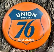 Union Product 76 Gasoline 18-inch Round Porcelain Sign Vintage Oil And Gas Signs