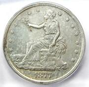 1877-s Trade Silver Dollar T1 Coin - Certified Icg Au58 Details - Rare Coin