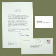 Warren Berger / Autograph Letter Signed Als And Appointment Document 1985