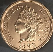 1899 Indian Head Penny 4 Diamonds Gorgeous Coincleaned