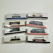 N Scale Southern Pacific Engine, Caboose And 7 Cars Coal Tank, Piggyback