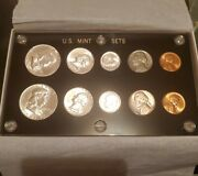 1957 Us Mint Set P And D In Capital Plastics Holder With Orginal Box 90 Silver