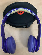 Beats By Dr. Dre Solo Hd Drenched Headband Headphones Purple Case But No Wire A7