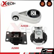 Engine Motor And Trans. Mount Set 3pcs.for 2005 Ford Focus Zxw Wagon 5-door 2.0l