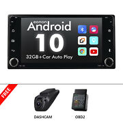 Obd+dvr+for Toyota Android 10 Car Radio Stereo 7 Inch Ips Gps Navigation Dsp Rds