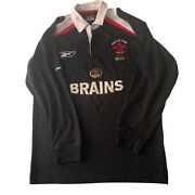 Wales Rugby Union Black 125 Years 2006 Wru Reebok Special Top Mens Size Small S