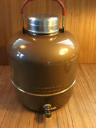 Vintage Little Brown Jug Hemp And Co.metal Thermos Type Water Cooler Camping
