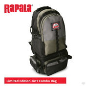 Rapala Limited Edition 3in1 Combo Backpack - Pike Bass Trout Lure Sea Fishing