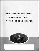 Ferguson Implements For The Ford Tractor With Ferguson System Benefits Brochure