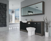 Bathroom Fitted Furniture 2100mm Black Gloss / Mali Wenge D1 With Wall Unit - Ba