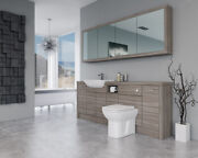 Bathroom Fitted Furniture 2100mm Driftwood D1 With Wall Unit - Bathcabz