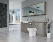 Bathroom Fitted Furniture 2100mm Latte Gloss / Driftwood D1 With Wall Unit - Bat