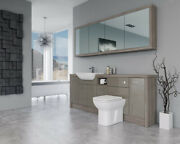 Bathroom Fitted Furniture 2100mm Metallic Latte Gloss / Driftwood D1 With Wall U