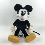Vintage Collectible Classics Mickey Wood Face Feet Woodsculpt Series By Applause