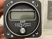 Electronics International 4 Channel Cht Gauge With Gasket Ring Type Probes