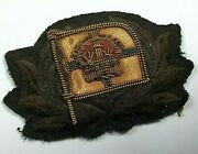 Very Early Pacific Steam Navigation Company Officers Cloth And Wire Cap Hat Badge