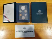 1990 S Us Mint Prestige Proof Set Ogp With Box Coa Silver Dollar - 6 Nice Coins