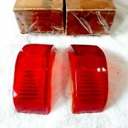 1950-1051-1952 Plymouth Tail Lights Glass Genuine New Right - Left 180