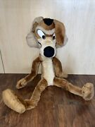 Vintage Wile E. Coyote 30 Inch Plush 1987 Mighty Star Bendable