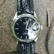 L@@k Mens 36mm Tudor Geneve Monarch Benz Hour Hand With The Lollipop Second Hand