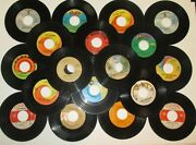 Lot Of 20 7 Vinyl Records-45 Rpm Some Scratched Or Cracked-60sand70s-decorating