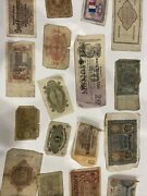 Lot Of Money Paper Bills German France And Russian Bills Reichbank Notes