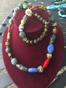 Vintage Antique Trade Beads Very Unusual Various Shapes Sizes See Photo