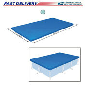10ft6ft.9in Pe Pool Cover For Rectangular Above Ground Pools 58106