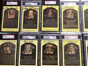 Hof Auto Postcard 35 Of The Greatest Hall Of Famers All Signed -psa-dna /sgc/jsa