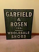 Antique 1900-1920 Metal Business/trade Sign-garfield And Rosen Inc Wholesale Shoes