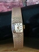 Vintage 9ct Gold Longines Swiss Ladies Mechanical Cocktail Dress Watch And Case