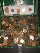 15 + Lbs Cents Penny Wheats Nickels Dimes Tokens Rolls From A Collectors Drawer