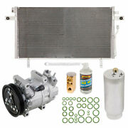 A/c Kit W/ Ac Compressor Condenser And Drier For Infiniti Qx4 1998 1999 2000