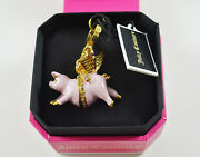 Juicy Couture Pink Pave When Pig Fly Flying Charm Can Open Very Rare