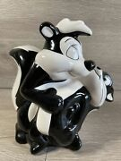 Pepe Le Pew And Penelope Piggy Bank 1997 Warner Brothers Black And White Vintage