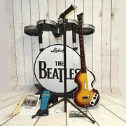 The Beatles Rock Band Nintendo Wii Drums Guitar 2 Dongles - Free Shipping