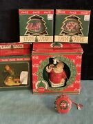 Vintage Coca-cola Trim A Tree Collection Christmas Ornaments Lot Of 5 New Box