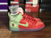 Nike Sb Dunk High Andlsquo Strawberry Cough Andlsquo - Size 9 - Cw7093-600