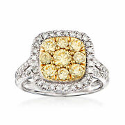 1.50 Ct. T.w. Yellow And White Diamond Ring In 14kt Two-tone Gold