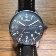 Fortis Flieger 595.18.158 Automatic Day Date Leather Belt Men's Watch