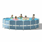 Intex 18ft X 48in Prism Frame Pool Set With Filter Pump Ladder Ground Cloth And
