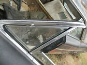 1964 Galaxie 2 Door Hardtop Fastback Left Driver Vent Window With Frame Clear