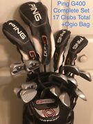Ping G400 Men's Rh Complete Set Golf Clubs, Driver, Fairway Woods, Irons, Wedges