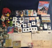 21 Vintage Junk Drawer Lot Documents Copper Silver Coins Pcgs Bullion And More