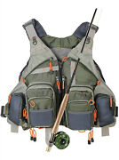 Fly Fishing Vest Maxcatch Bass Trout Fishing Gear Tackle Pack Adjustable New