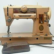 Vintage Singer 401a Slant O Matic Sewing Machine W/ Foot Pedal And Power Cord
