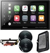 Pioneer Dmh-c5500nex 8'' Car Stereo Receiver + Backup Cam/speakers/charger Kit