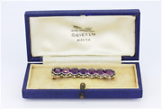 Antique 19th Century French Amethyst And Rose Cut Diamond Set Brooch